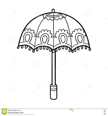 coloring book for children umbrella stock vector ilration of page object