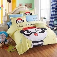 3d cartoon sanding bedding set kawaii yellow panda bed set include duvet cover bed sheet pillowcase king size super king size bedding linen duvet from