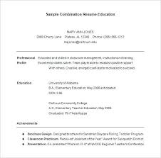 Combination Resume Template 9 Combination Resume Template Word
