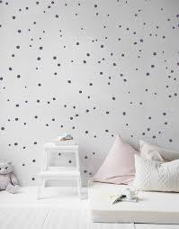 tiny hand drawn polka dot wall decals