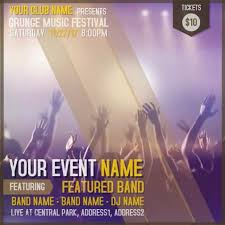 band flyer generator copy of music concert video template band flyer generator digital