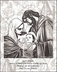 Jesus Mary and Joseph The Holy Family Coloring Page
