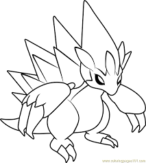 Small Picture Alola Sandslash Pokemon Sun and Moon Coloring Page Free Pokmon