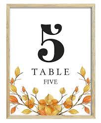 Table Number Design Amazon Com Darling Souvenir Autumn Theme 1 20 Table