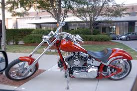shiny red chopper style harley davidson chris devers flickr