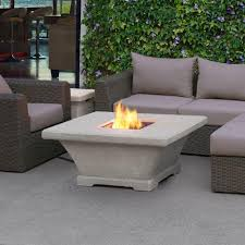 fiberconcret square propane gas fire pit in cream gas fire table a44