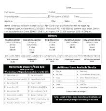 pie order form template food inventory list template best of grocery shopping catering order