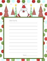 Free Letter From Santa Word Template Kids Free Printable Wish Letters Craft Idea Reply From