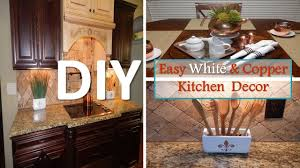 Small Picture DIY Easy White and Copper Kitchen Decor With Dollar Tree Items