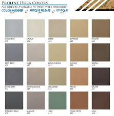 Concrete Floor Color Chart Proline Dura Colors Line Of Color Hardeners Features Over 40