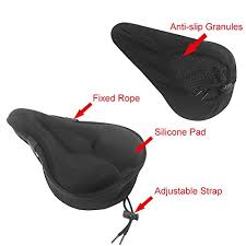 Gel Bike Seat Extra Soft Bicycle Saddle Cushion With Waterproof