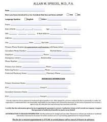 patient information form new patient information forms neurological solutions