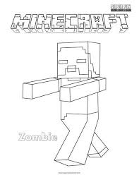 Minecraft Zombie Coloring Page Super Fun Coloring