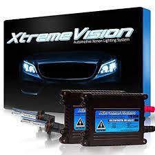 Xtremevision Dc 35w Xenon Hid Lights With Premium Slim Ballast 9005 6000k 6k Light Blue 2 Year Warranty