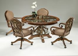 dining room chairs on wheels amazing kitchen casters padded in plan 0 throughout 3 er
