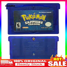 ✡YXPJ✡Classic Pokemon Sapphire Game Cartridge Card for NS GBA Gameboy  Advance