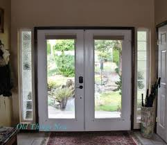 looking out front door. We Used To Have Frosted Glass, But When One Of The Windows Was Accidentally Broken Realized Liked View Out That Side House And Chose Looking Front Door O