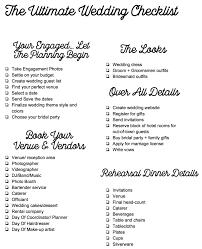 Wedding Detail Checklist The Ultimate Wedding Checklist Haulin Nostalgia