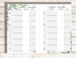Food And Exercise Trackers Exercise Tracker Printable Nutrition Tracker Printable Exercise Log Eating Log Food Tracker Food Log Health Tracker Printable