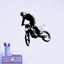 Motocross Bedroom Decor Motorcycle Wall Decal Motocross Moto Dirty Bike Motorbike