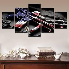 modular barato 5 painel moderna quadros para pintura arma fotos arte cópias da lona arte da