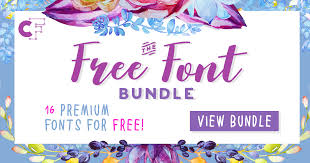 Free download thousands of excellent fonts, including free fonts, free typeface, logo font, google font and more. The Free Font Bundle Bundle Creative Fabrica