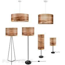 wood lighting. Wooden Floor Lamp - Veneer Shade Satin Walnut Natural Wood Lamps Lighting Modern Lampshades H