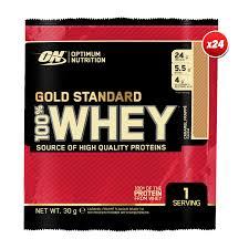 24 x 100 whey gold standard sachet 30g