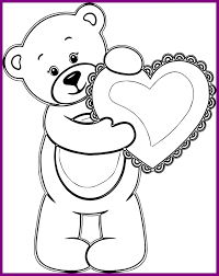 Teddy Bear With Heart Coloring Pages Wagashiya Within 9