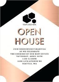 Business Open House Invitation Cambrid Info