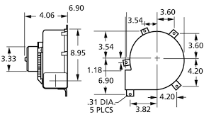 draft inducer blower 115 volts 3 speed fasco b47120 (dayton ref multi speed blower motor wiring at Fasco Blower Motor Wiring Diagram