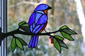 62 00 eastern bluebird with berries approx size 5 1 2 tall x 9 1 2 wide