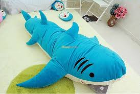 Fancytrader New Style High Quality Shark 200cm X 140cm Huge Giant Shark Bed  Carpet Sofa Tatami, 2 Colors! Free Shipping FT90358-in Movies & TV from  Toys ...