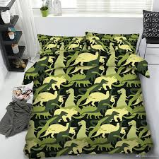 white patterned duvet cover photograph cool green dinosaurs 3d printed bedding set twin full queen