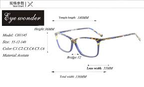 Spectacles Size Chart Us 39 0 Eye Wonder Womens Fashion Acetate Glasses Frames Designer Spectacle Lunettes Eyewear Accessories In Womens Eyewear Frames From Apparel