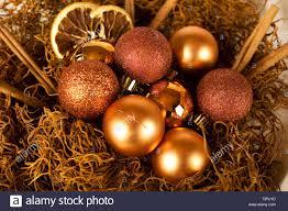 Weihnachtsdekoration Mit Zimtstangen Orangenscheiben Und