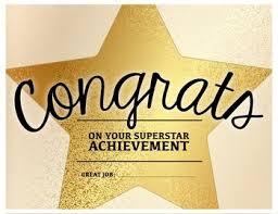 Superstar Achievement - Congratulations Certificate   Tpt