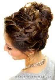 cute braided bun hair tutorial updo hairstyles for short um long hair
