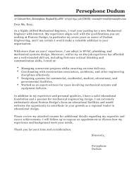engineering cover letters mechanical engineer cover letter examples for engineering