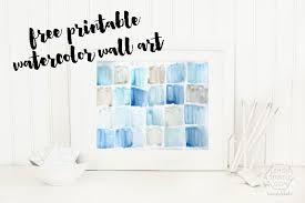 watercolor wall art free