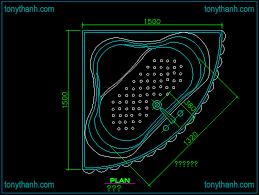 layout view of corner bathtub cad block autocad drawing