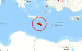 Girit Adası açıklarında bir deprem daha!