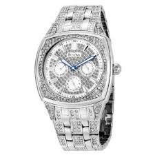 bulova men s crystal day date watch 96c002 bulova watches vintage bulova men s crystal day date watch 96c002