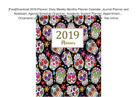Monthly Planner Free Download Free Download 2019 Planner Daily Weekly Monthly Planner