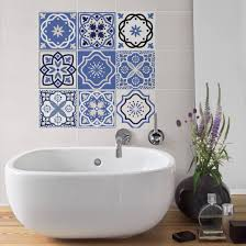 Tile Sticker Set 9 Portuguese tiles 10cm x 10cm