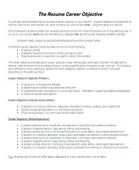 Objective Resume Examples Best High School Student Resume Objective Examples High School Resume