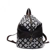 Coach In Monogram Medium Grey Backpacks 497