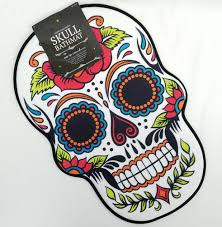 Design A Sugar Skull Online Details About Sugar Skull Day Of The Dead Bath Mat Dia