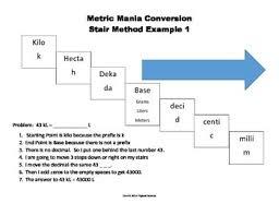 80 Eye Catching Metric Conversion Chart Staircase Method