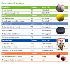 Food Portion Size Chart Portion Control Guide